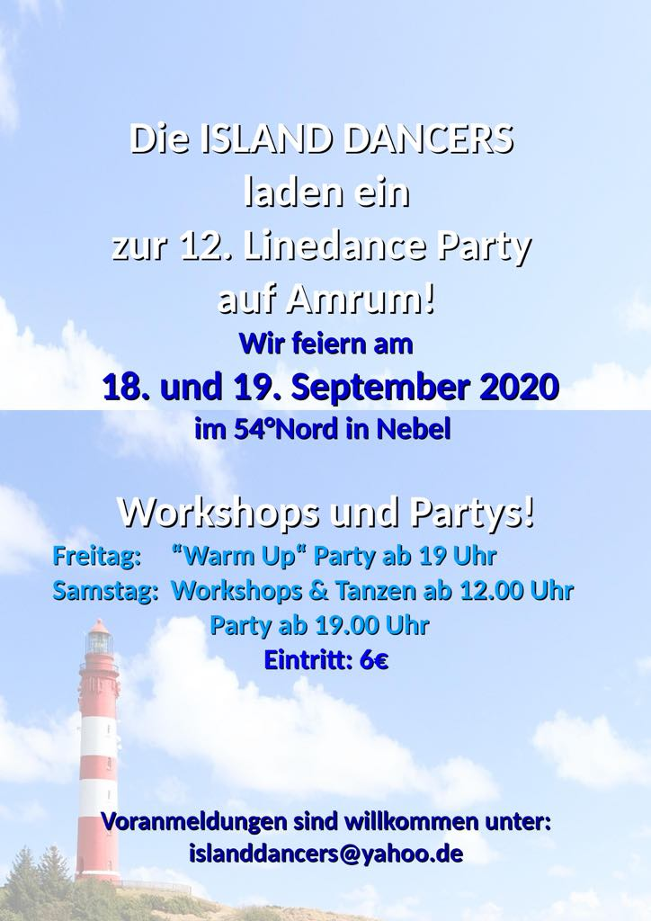 12. Linedance Party auf Amrum